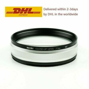 NiSi 77mm Close Up NC Lens Kit with 67 72mm Step-Up Rings Macro Lens Amplifier
