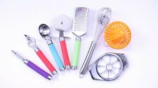 8-Piece Kitchen Utensil Set - Peeler, Whisk, Pizza cutter, Grater, Opener, More!