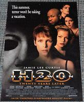 HALLOWEEN H20 1998 ORIG. NM 13x20 MOVIE POSTER! JAMIE LEE CURTIS! MICHAEL MYERS!