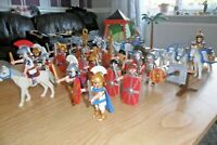 Playmobil - Roman & Egyptian Soldiers - With Chairoits, Weapons - Large Lot
