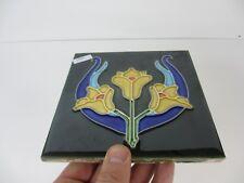 Ceramic Tile Vintage Floral Flower Art Nouveau Flowers Floral Old RETRO / REPRO