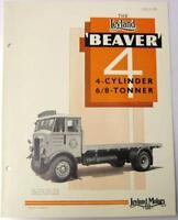 LEYLAND BEAVER 4 Cylinder 6/8 Tonner c 1937 #530C Original Commercial Brochure