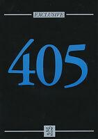 Peugeot 405 Exclusive Prospekt 1993 8/93 brochure prospectus broschyr brosjyre