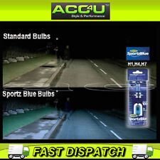 Ring H4 Sportz Blue White Xenon Look 12v 100w Car Upgrade Headlight Lamp Bulbs