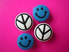JIBBITZ CLOG CHARMS FIT CROCS AN CLOGS WITH HOLE 4 BLUE SMILEY FACE PEACE SIGN