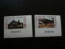 GABON - timbre - yvert et tellier n° 432 433 nsg (non dentele) (A7) stamp