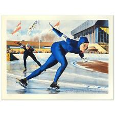 """William Nelson - """"Olympic Skating (Sheila Young)"""" Limited Edition Lithograph"""