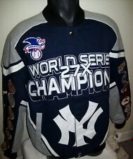 NEW YORK YANKEES Ultimate 27 Time WORLD SERIES CHAMP Cotton Jacket MEDIUM