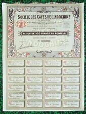 Indochine Epoque Coloniale -  Saïgon - Déco Ste des Cafés de l'Indochine de 1926