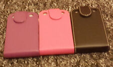 Plain flower PU Leather Flip with clip Case Cover for Blackberry Mobile Phones
