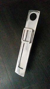 Art Deco Chrome Vertical Letterbox with Knocker