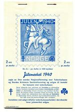 NORWAY. SCARCE 1940 CHRISTMAS SEALS/LABELS. UNMOUNTED  MINT BOOKLET OF 100 SEALS