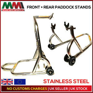 FULL REV RACING Pro FRONT & REAR Paddock Stand Stainless Steel- WARRANTY INC
