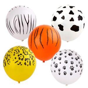 10pcs Jungle Safari Latex Balloon Zoo Animal Wedding Kids Birthday Party Decor