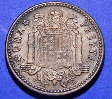 Spain 1 PTA 1947 (52) AU Coin  Full PLUS ULTRA ¡Moneda Bella! Casi Sin Circular