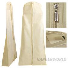 Hangerworld 182cm funda traje novia vestido transpirable cremallera Marfil