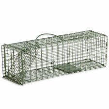 Humane Animal Trap 16x5x5 Steel Cage Live Rodent Control Squirrel Rat Skunk -New
