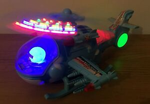 ARMY COMBAT HELICOPTER FLASHING LIGHTS, SOUND & 360 ACTION - 30CM