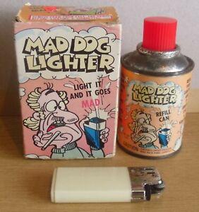 Vintage 1980 Poynter Products Mad Dog Lighter Squirts Foam Novelty Joke Toy