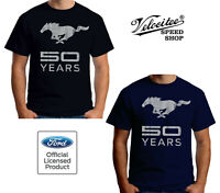 Velocitee Mens T-Shirt Official Licensed Ford Mustang 50 Years Pony A19241