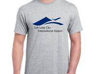 Salt Lake City International Airport T-shirt Travel Utah US Sport Gray Tee Shirt