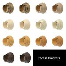 Integra Woodworks 2 x Recess Brackets 28, 35, 50mm Dia Wooden Poles 7 Colours
