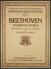 PARTITION LEMOINE N°1180 - BEETHOVEN - SYMPHONIES Op. 21 en ut mineur