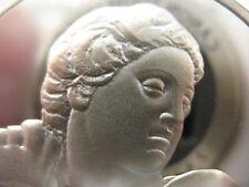 1.3-OZ.925 STERLING SILVER DAVID-APOLLO GENIUS OF MICHELANGELO PROOF COIN +GOLD