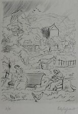 ÉDY LEGRAND (1892-1970) : Le Cantique des Cantiques. Eau-forte originale. signée