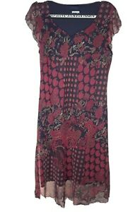 Believe Maxi Dress Size 16 Red Burgundy Floral Long Sheer Lined Sleeveless