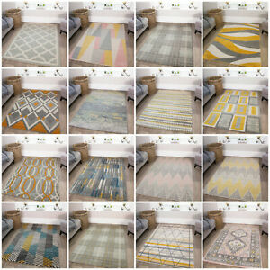 Modern Geometric Living Room Rugs and Long Runners Affordable Non Shed Area Rug