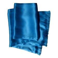 Sapphire Silk Aviator Scarf for Men - Double Layered Satin Silk by Royal Silk®