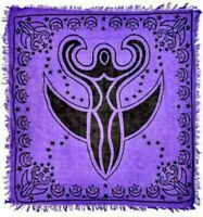 "Purple Moon Goddess Altar/Tarot Cloth 36"" by 36"" Wicca"