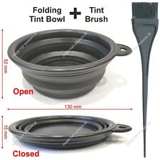 COLLAPSIBLE TINT BOWL & TINTING BRUSH KIT Hair Colours Tints Dyes Foldable