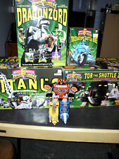 5 VINTAGE 1990'S MIGHTY MORPHIN POWER RANGERS TOR-SHUTTLEZORD,TITANUS ,BAN-DAI