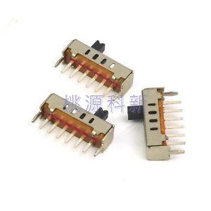 15PCS Vertical Slide Switch 4 Position 1P4T 6 Pin DC 50V 0.3A SS14D01