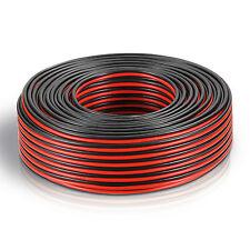 50m Zwillingslitze 2x 0,75mm² Lautsprecherkabel Boxenkabel rot/schwarz 2-adrig
