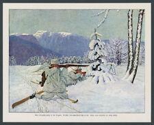 Dt. Alpenkorps Ski-Patrouille 98K Gefecht Vogesenfront Wintertarn Landser 1915