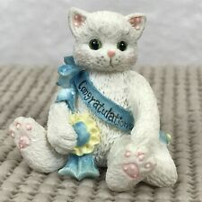 Miniature Calico Kittens Congratulations 167312 Kitty Cat w/Blue Banner Congrats