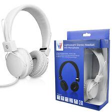 Genuine V7 HS2000 On-Ear 40mm Driver Stereo Headphones Headset Handsfree+Mic New