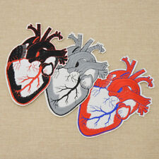 Heart Punk Embroidered Tattoo Style Patch Applique Iron On Sewing HandCraft New