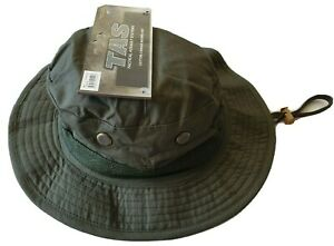 TAS OD GREEN BOONIE HAT XL 61-62CM 100% RIPSTOP COTTON DOUBLE BRIM SIDE VENTS