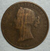 1856 Nova Scotia Half Penny Token #SS731