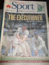 MATTHEW HAYDEN AUSTRALIA CRICKET AUSTRALIAN NEWSPAPER 3/19 2001 BEAT INDIA