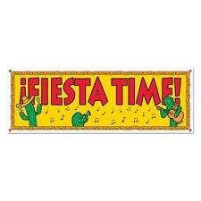 Party  Supplies Birthday Fiesta Mexican Cactus Fiesta Time Banner