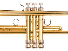 Bach Trumpet Trim Kit Radiator Caps. KGUBrass. Raw Brass. TKRR123