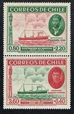 CHILE 1940 PAIR STAMP # 265/6 MNH SHIP EASTER ISLAND ISLA DE PASCUA