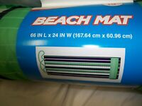BEACH MAT  Roll-Up 66 in L x 24 in W   100% Polyester