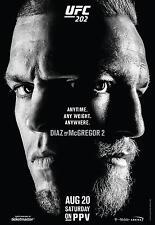 CONOR McGREGOR v NATE DIAZ UFC 202 MMA PROMO POSTER TMOBILE ARENA LAS VEGAS
