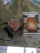Himalayan Crystal Rock Salt USB Lamp Diamond Shape w/ Multi-color LED Light